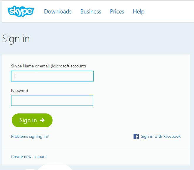 Web-based Skype