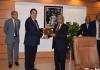 MD NTC Mr. Viqar Rashid Khan presenting memento to Minister for IT & Telecom