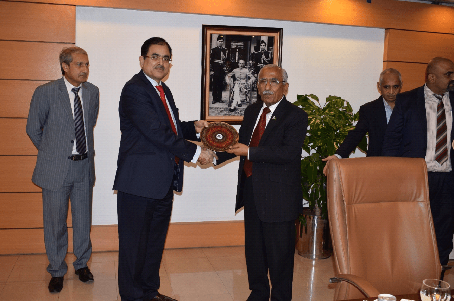 MD NTC Mr. Viqar Rashid Khan presenting memento to Minister for IT & Telecom