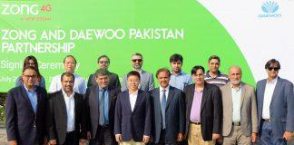 Zong 4G Partners with Daewoo Express