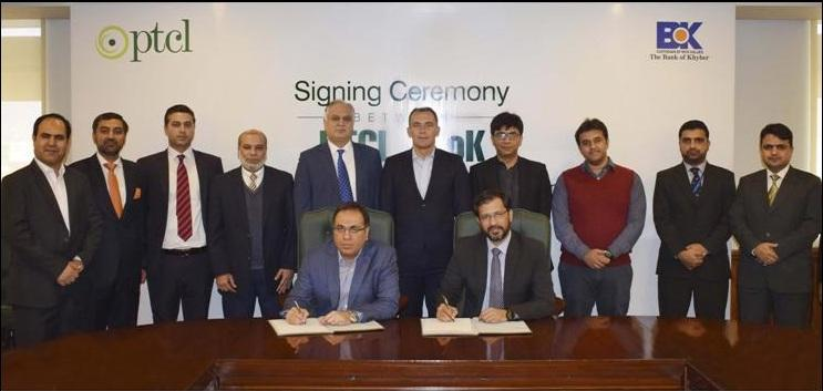 06c96ec4bd479 The Bank of Khyber signs PTCL for Managed Services contract
