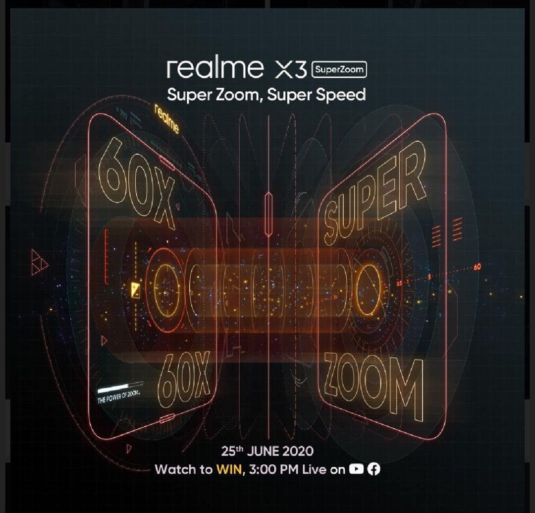 Realme X3 Superzoom Launching June 25th 60x Hybrid Zoom Beyond