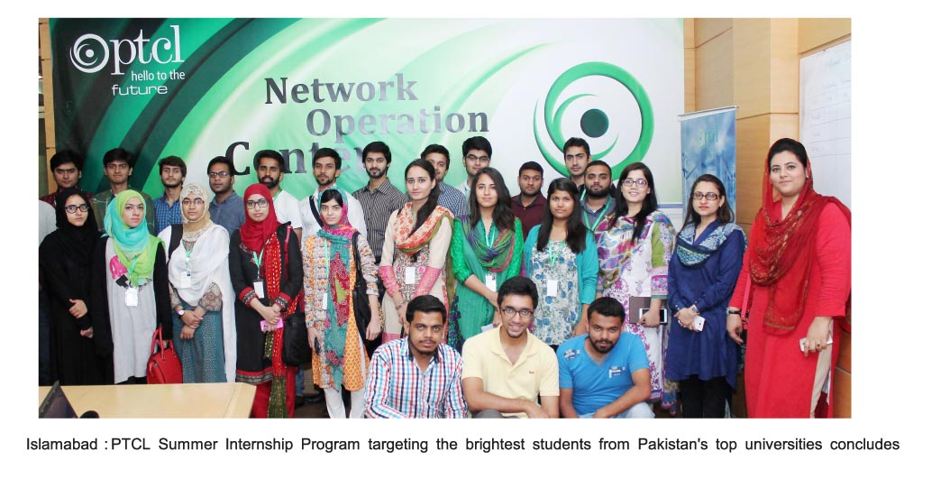 For English....PTCL summer internship program concludes